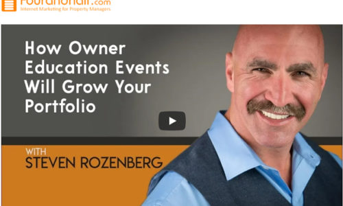 how owner education events grow your portfolio