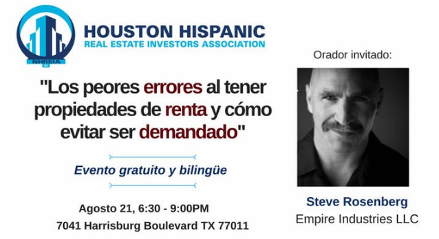 Houston Hispanic real Estate investors association event august 21 2018