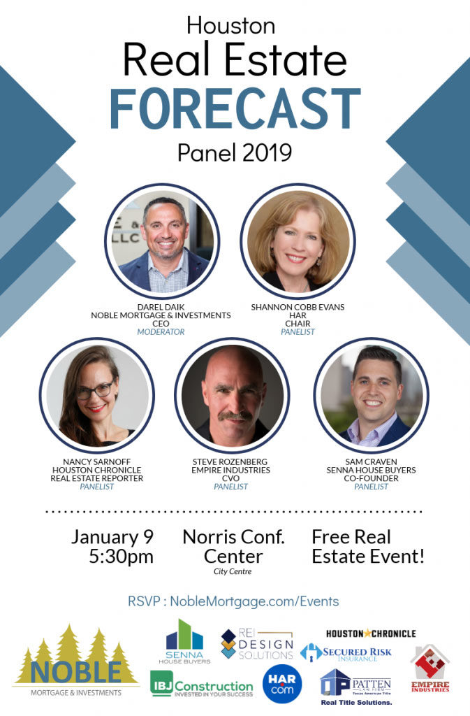 Noble Mortgage Houston 2019 forecast panel