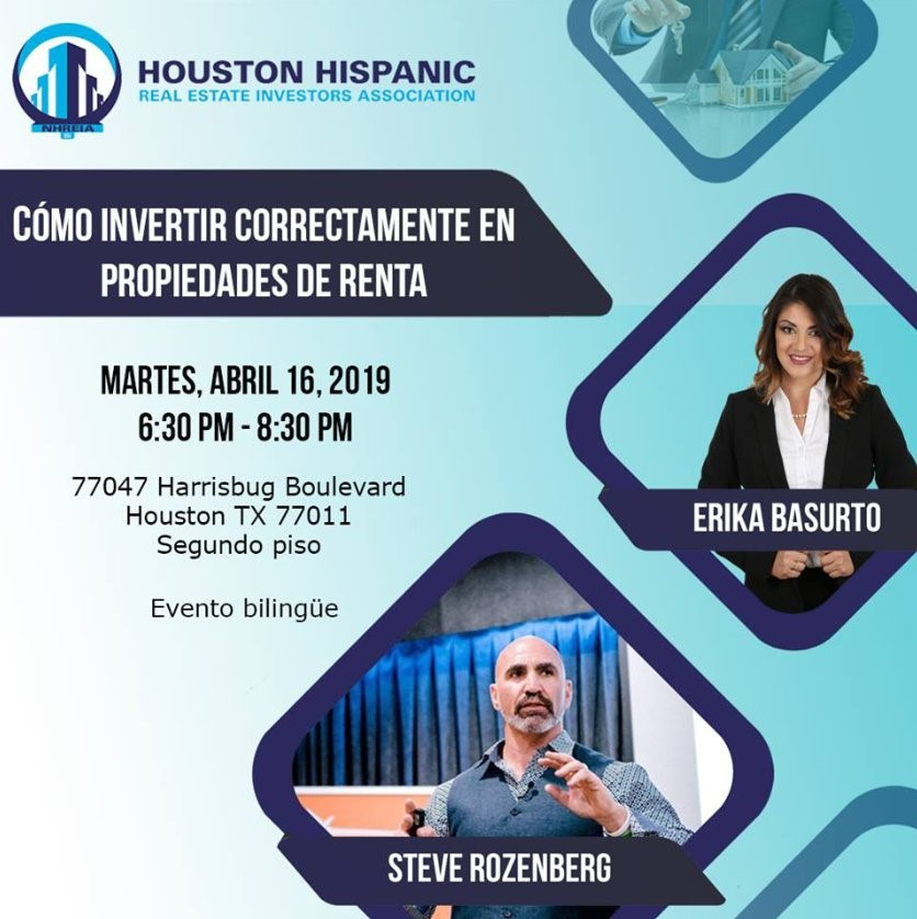 Steve speaking at Houston Hispanic Real Estate Investor Association Event April 16 2019