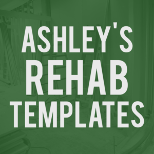 Ashley's Rehab Templates
