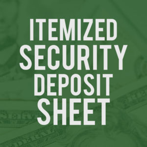 Itemized Security Deposit Sheet